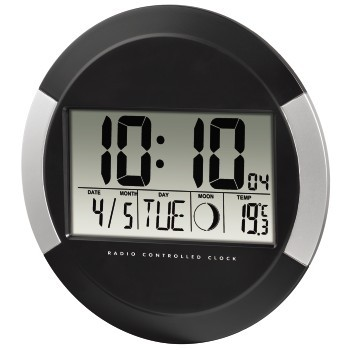 HAMA PP-245 DCF Radio Wall Clock black