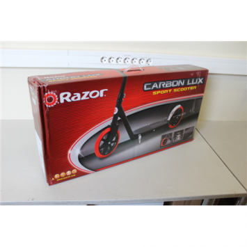 SALE OUT. Razor Carbon Lux Scooter - Black/Red, DAMAGED PACKAGING Razor