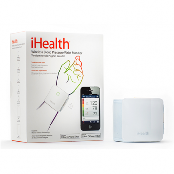 iHealth BP7 Weight 105 g, Automatic, White/Grey, Calculation of blood pressure (systolic and diastolic), Calculation of heart rate, Wireless Bluetooth connection