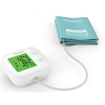 iHealth - clinically validated blood pressure (ESH)- systolic, diastolic and heart rate (number of beats per minute)- evaluation of measurements as recommended by the WHO- detection of arrhythmia- universal cuff (22-42cm)- colour changing display- easy to