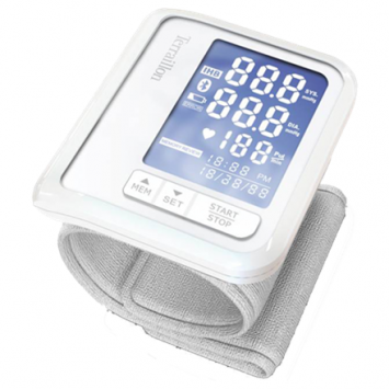 Terraillon Tensio White, Wrist Blood pressure monitor, Calculation of blood pressure (systolic and diastolic); Analyse heart rate., Connectivity: Bluetooth Smart