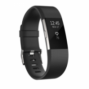 Fitbit Flex Charge 2 Black Silver - Small Buttons, Touch, Touchscreen, Bluetooth, Heart rate monitor, Waterproof  154,00