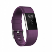 Fitbit Flex Fitness Tracker Charge 2 Plum Silver - Large FB407SPML-EU OLED, Plum Silver, Bluetooth, Built-in pedometer, Heart rate monitor, GPS (satellite), Waterproof  154,00