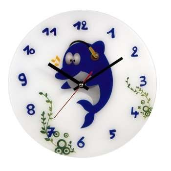 HAMA Dolphin Childrens Wall Clock