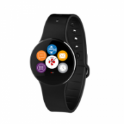 MyKronoz ZeCircle2 Touchscreen, Bluetooth, 70 mAh, Waterproof, Black, Smartwatch, Black,  56,00