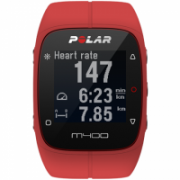 Polar GPS running watch M400 Red, Bluetooth, Built-in pedometer, Heart rate monitor, GPS (satellite), Waterproof, 56 g  166,00