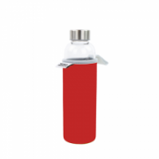 Yoko Design Glass Bottle with sleeve 1646 Red, Capacity 0.5 L, Dishwasher proof, Bisphenol A (BPA) free  16,00