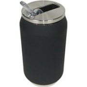 Yoko Design Isotherm Tin Can 280 ml, Soft touch black  14,00