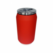Yoko Design Isotherm Tin Can 280 ml, Soft touch red  16,00