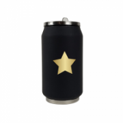Yoko Design Isotherm Tin Can, Black with star pattern, Capacity 0.28 L,  16,00