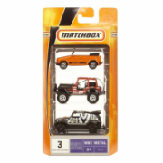Matchbox Mb 3-Pack Toy Vehicles, Suitable for children aged 3 and above. Each 1:64 scale vehicle is highly detailed with authentic decos and real rolling wheels.  8,00