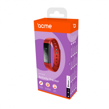 Acme Activity tracker ACT101R Steps and distance monitoring, OLED, Red, Bluetooth,