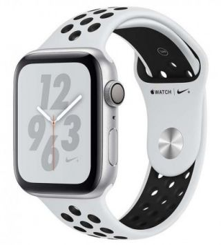 Apple Watch Nike+ Series 4 GPS, 44mm Silver Aluminium Case with Pure Platinum