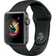 Apple Watch Series 2 38mm Space Grey Aluminium Case with Black Sport Band 1yw  503,00