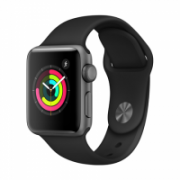 Apple Watch Series 3 GPS, 38mm Space Grey Aluminium Case with Black Sport Band  312,00