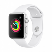 Apple Watch Series 3 GPS, 42mm Silver Aluminium Case with White Sport Band  338,00