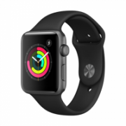 Apple Watch Series 3 GPS, 42mm Space Grey Aluminium Case with Black Sport Band  338,00