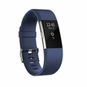Fitbit Flex Charge 2 Blue Silver - Large  FB407SBUL-EU OLED, Bluetooth, Built-in pedometer, Heart rate monitor, GPS (satellite), Waterproof  145,00