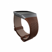 Fitbit Ionic Accessory Perforated Leather Band Dark Brown - Small  55,00