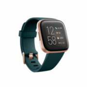 Fitbit Versa 2 Smart watch, NFC, OLED, Touchscreen, Heart rate monitor, Activity monitoring 24/7, Waterproof, Bluetooth, Wi-Fi, Emerald/CopperRose  199,95