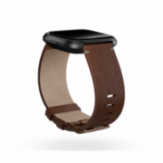 Fitbit Versa Accessory Leather Band Cognac - Large  55,00
