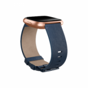 Fitbit Versa Accessory Leather Band Navy - Large  55,00