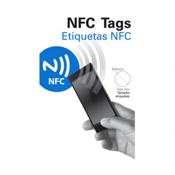 KSIX BXTAG01 NFC Sticker, Transparent
