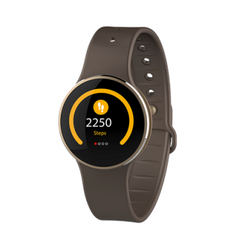 MyKronoz 191872  Zecircle 2 70 mAh, Touchscreen, Bluetooth, Touchscreen, Waterproof, Smartwatch, Gold/ brown,