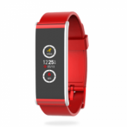 MyKronoz Smartwatch  Zefit4  80 mAh, Touchscreen, Bluetooth, Red/ silver, Activity tracker with smart notifications,  41,00