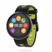 MyKronoz Smartwatch ZeRound 2 HR Premium Waterproof, Black/Yellow, Built-in pedometer, Heart rate monitor, TFT color touchscreen, Bluetooth, Touchscreen, 53 g  139,00