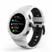 MyKronoz Zesport 2 460 mAh, Smartwatch, Touchscreen, Bluetooth, Heart rate monitor, White, GPS (satellite),  123,00