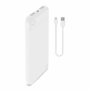 Belkin BOOST↑CHARGE™ Power Bank with Lightning Connector + Lightning Cable F7U065btWHT 10000 mAh, White  76,00