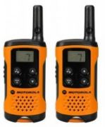 Motorola T41 short-wave radio, 4km, black-orange  37,00