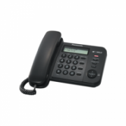 Panasonic Corded KX-TS560FXB 588 g, Black, Caller ID, Phonebook capacity 50 entries, Built-in display, 190 X 196 X 95 mm  31,00