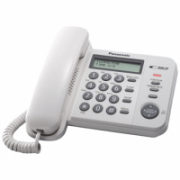 Panasonic Corded KX-TS560FXW 588 g, White, Caller ID, Phonebook capacity 50 entries, Built-in display, 198 x 195 x 95 mm  31,00