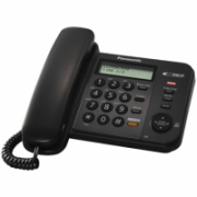 Panasonic Corded KX-TS580FXB Built-in display, Speakerphone, 618 g, 95 x 190 x 196 mm, Black, Caller ID, Phonebook capacity 50 entries  38,00