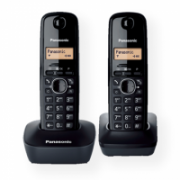 Panasonic Cordless KX-TG1612FXH Black, Caller ID, Wireless connection, Phonebook capacity 50 entries, Built-in display, Conference call  41,00