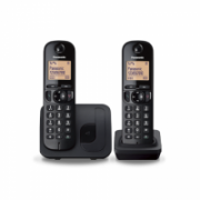 Panasonic Cordless KX-TGC212FXB Black, Built-in display, Phonebook capacity 50 entries, Speakerphone, Caller ID  51,00