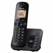 Panasonic Cordless KX-TGC220FXB Black, Built-in display, Speakerphone, Caller ID, Phonebook capacity 50 entries  36,00
