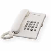 Panasonic KX-TS500FXW Corded phone, White, Wall-mount option, Last Number Redial, Flash, Volume Control (6 levels), 3-Step Ringer Selector, Tone/Pulse Panasonic  14,00