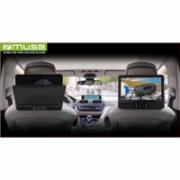 Muse DVD Player for vehicles. M-990CVB 2pcs separate players set.  Speakers, USB connectivity, MP3, JPEG and DivX playback  114,00