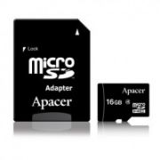 Apacer memory card Micro SDHC 16GB Class 4 +adapter  6,00