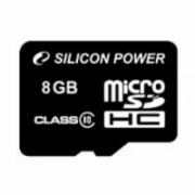 SILICON POWER 8GB, MICRO SDHC, CLASS 10 WITHOUT ADAPTER Silicon Power  7,00