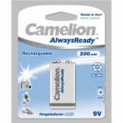 Camelion 9V/6HR61, 200 mAh, AlwaysReady Rechargeable Batteries Ni-MH, 1 pc(s)  9,00