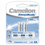 Camelion AA/HR6, 2300 mAh, AlwaysReady Rechargeable Batteries Ni-MH, 2 pc(s)  8,00
