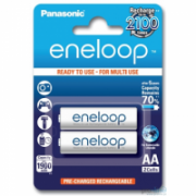 Panasonic eneloop AA/HR6, 1900 mAh, Rechargeable Batteries Ni-MH, 2 pc(s), Ready to use  9,00