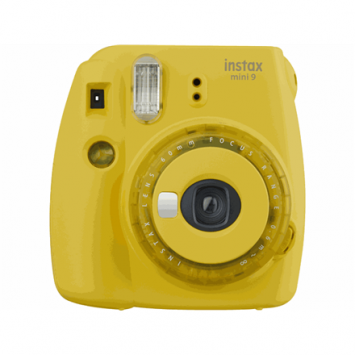 Fujifilm Instax Mini 9 camera Instax Mini 9 camera  Focus 0.6m - ∞, Clear Yellow, 0.6m - ∞, Clear Yellow