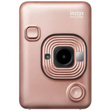 Fujifilm Instax mini LiPlay Blush Gold, 10 cm to ∞, Lithium-ion, 1600