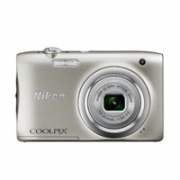 Nikon COOLPIX A100 Compact camera, 20.1 MP, Optical zoom 5 x, Digital zoom 4 x, Image stabilizer, ISO 1600, Display diagonal 6.7 cm, Video recording, Lithium-Ion (Li-Ion), Silver  111,00