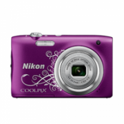 Nikon COOLPIX A100 Compact camera, 20.1 MP, Optical zoom 5 x, Digital zoom 4 x, Image stabilizer, ISO 1600, Display diagonal 6.86 cm, Video recording, Lithium-Ion (Li-Ion), Purple Lineart  111,00